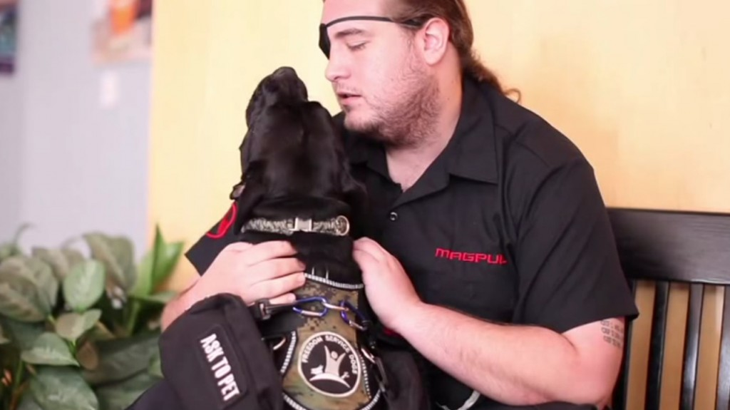"""Since I've had Dexter, I've been able to go out in public by myself more often without having all the anxiety,"" says Iraq War Veteran Rob Robinson."