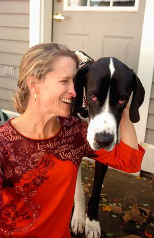 Renee LeVerrier & her Great Dane, SirThomas