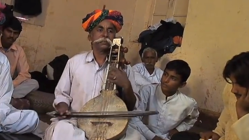Traditional Indian musician.