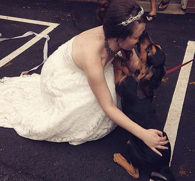 Thor always slobbers at weddings.