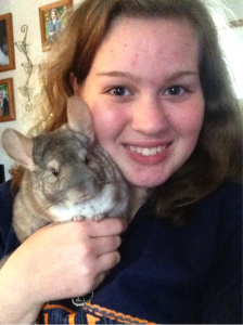 Maddie and Lucy the chinchilla