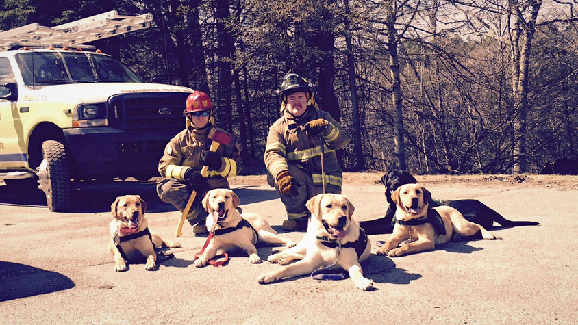 ECAD's Lu-Lu Litter with the Fire Department
