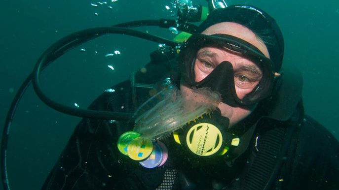 Ken Kurtis on an underwater dive
