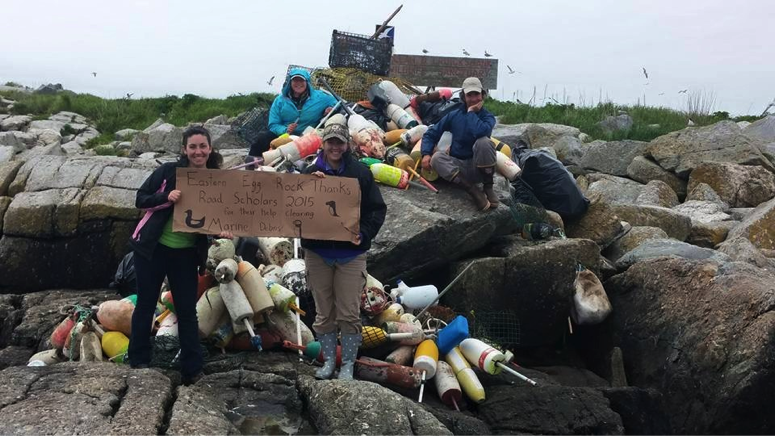 Marine debris cleanup on Eastern Egg