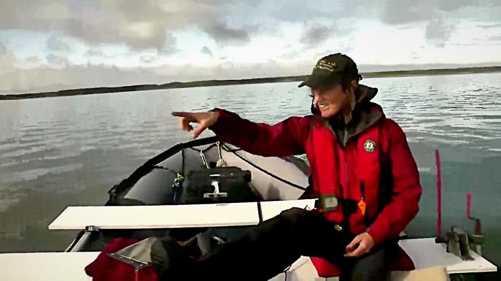 Hayley Shephard pilots the Beluga Boat