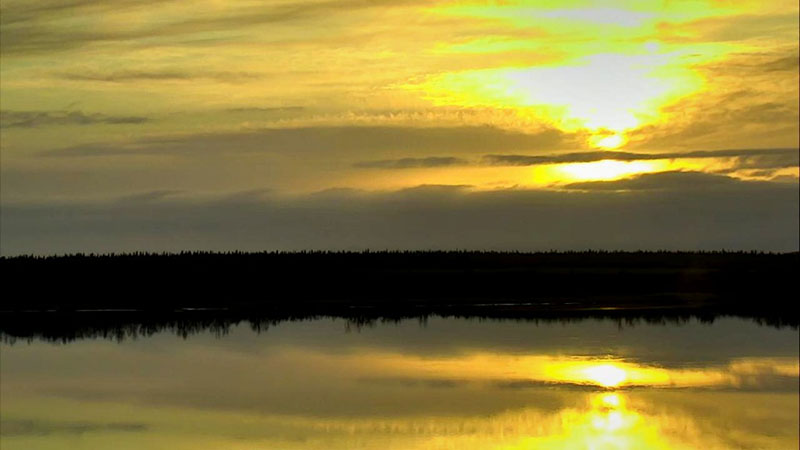 Sunset over Naknek River