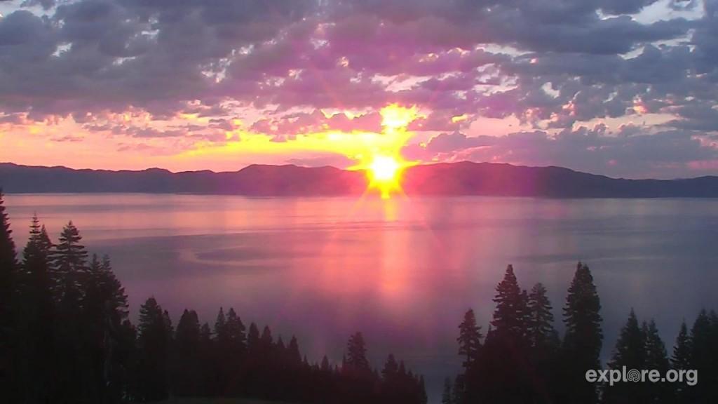 Incredible sunrise over Lake Tahoe | Snapshot by BulldogloverFL