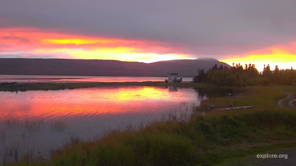 sunrise over the lower river