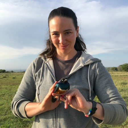 Dr. Shana Caro, Postdoctoral Researcher, Columbia University.  Shana Caro researches how baby birds talk to their parents, and how their parents respond.