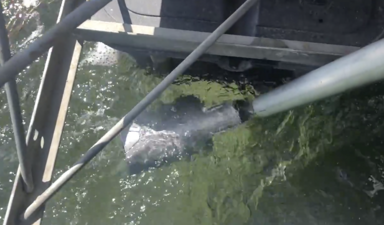 Underwater cam installation