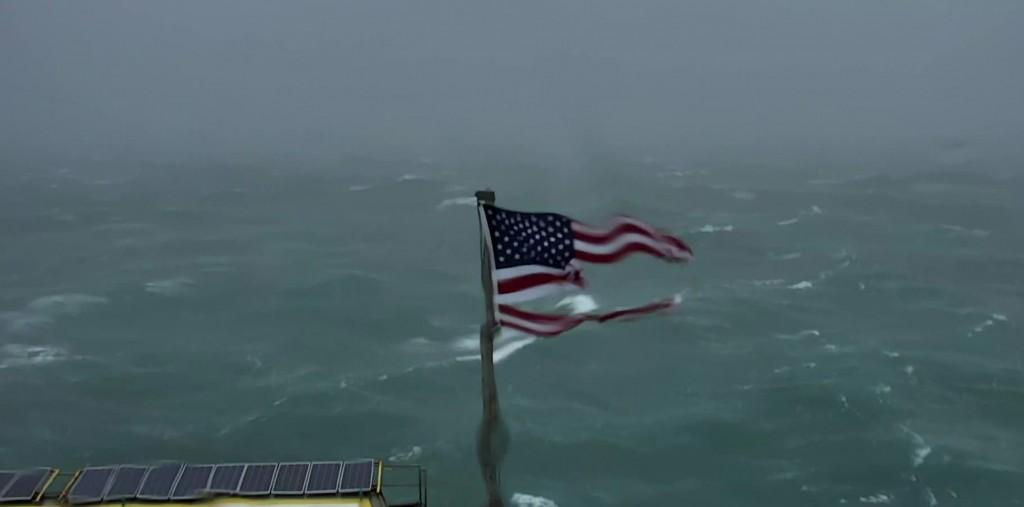 hurricane florence tattered flag frying pan