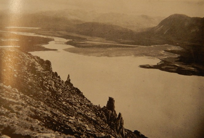 photo of Ukak-Savonoski delta from Cahalane 1954