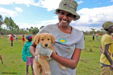 Dr. Maureen Kamau is all smiles during the ongoing Laikipia Rabies Vaccination Campaign.